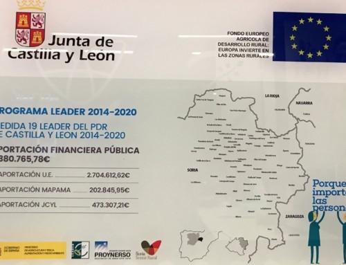 PROYNERSO consigue la segunda asignación de fondos públicos para la Estrategia de Desarrollo Rural de Castilla y León en el marco LEADER 2014-2020.